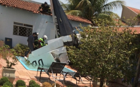 avião caiu em SP